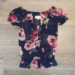 Abercrombie & Fitch sheer shirt